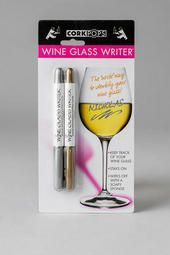 #Wine glass writers in gold & silver.
