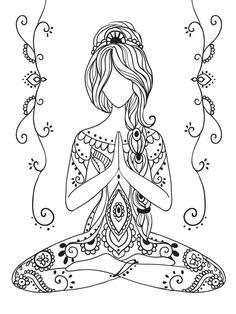 Pin by ирина on трафареты yoga, mandala, doodle art Mandala Art, Mandala Doodle, Zentangle Patterns, Embroidery Patterns, Zentangles, Doodle Patterns, Doodle Art, Color Mind, Yoga Kunst
