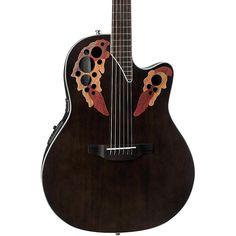 Ovation CE48 Celebrity Elite Acoustic-Electric Guitar Transparent Black