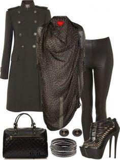 Стил малка черна рокля