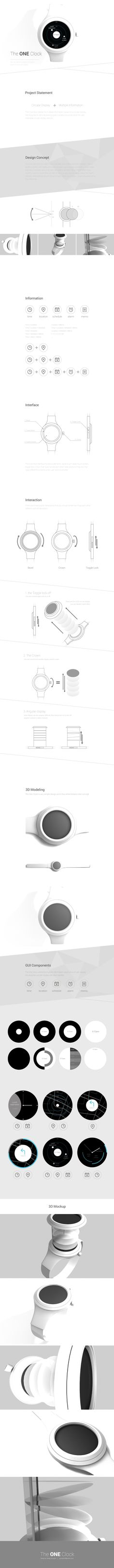 JeongYoungho | The ONE Clock | Visual Interface Design(2) 2016 | Major in Digital Media Design │#hicoda │hicoda.hongik.ac.kr