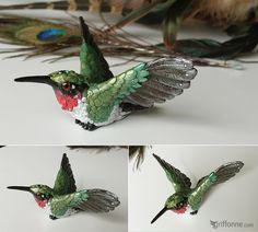 Ruby-Throated Hummingbird by joanniegoulet.deviantart.com on @deviantART