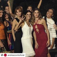 ✨✨✨Um pouquinho do Desfile Andrea Conti ✨ Vanessa Montoro com as queridas @gipirozzi @vanessamontoro @corellooficial ✨ #gratidao #style #andreacontioficial #vanessamontoro