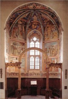 View of the Main Apsidal Chapel - Benozzo Gozzoli montefalco Perugia Umbria