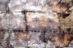 Jedwabny malowany szal - abstrakcyjne brązy - MalowanyJedwab - Szale jedwabne