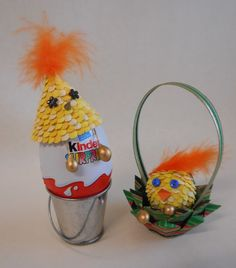 Easter chicks rules! Go and see detailed tutorial.
