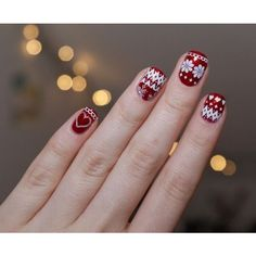 Christmas Sweater Nails ❤ liked on Polyvore featuring beauty products and nail care