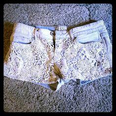 Selling this Floral Jean shorts in my Poshmark closet! My username is: heathernicole94. #shopmycloset #poshmark #fashion #shopping #style #forsale #Aeropostale #Pants