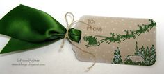 wee inklings - SU - Cozy Christmas - Santa, glitter tag!
