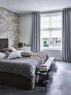 Simple bedroom curtain ideas gallery for small and large windows. Suite for master bedroom, kid bedroom, teen boy or girl bedroom, etc. Window Treatments Living Room, Living Room Windows, Home Bedroom, Girls Bedroom, Bedroom Decor, Curtains With Blinds, Bedroom Styles, Stores, Home And Living