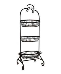 Another great find on #zulily! Gray Three-Tier Basket Rack #zulilyfinds