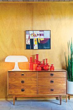 #midcenturymodern #vintage #drawers #lamp #Nesso #GiancarloMattioli #Artemide #ceramics #Holmgaard #plant