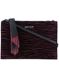 JUST CAVALLI Just Cavalli Women'S S11Wf0126N08734359 Burgundy Suede Shoulder Bag. #justcavalli #bags #shoulder bags #suede #