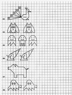 Blackwork Patterns, Blackwork Embroidery, Cross Stitch Embroidery, Art Lessons For Kids, Art For Kids, Pixel Drawing, Graph Paper Art, Drawing For Kids, Math Activities