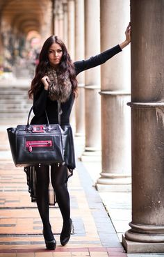 """https://www.cityblis.com/6016/item/6960  Luxury Leather Handbag Tote Black Red Handmade Large Habjanic - $420 by HABJANIC HANDBAGS  Handmade black and red leather luxury handbag. Dimensions 16""""x 14""""x 6"""". Two pocket inside, one open and one with zipper"""