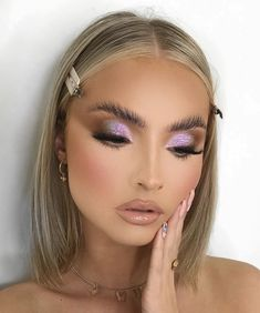 Best Makeup Brushes, Makeup Inspiration, Makeup Ideas, Hair Makeup, Eye Makeup, Makeup Looks, Make Up, Face, Earrings