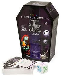 For all you Jack Skellington fans out there, here is a game you are going to love. The Nightmare Before Christmas Trivial Pursuit game contains over 400 Nightmare Before Christmas Games, Jack The Pumpkin King, Christmas Lingerie, Jack And Sally, Family Game Night, Diy Halloween Decorations, Jack Skellington, Trivial Pursuit, Fall Halloween