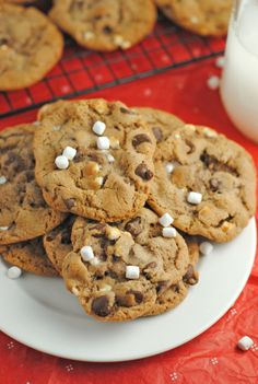 Hot chocolate cookies made with hot cocoa mix!