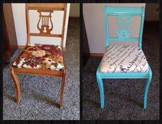 Cute garage sale chair makeover!