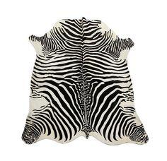 Zebra Printed Cowhide Rug Black / Pearl por PuraSpain en Etsy