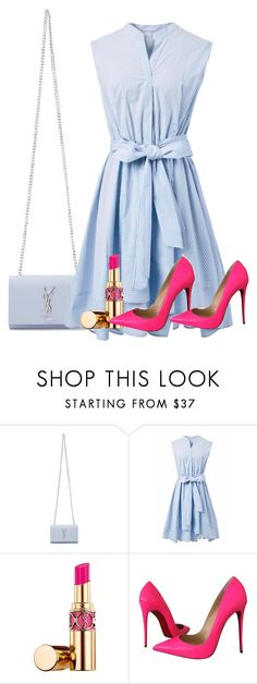 """Untitled #216"" by naomy-nona ❤ liked on Polyvore featuring Yves Saint Laurent, Chicwish and Christian Louboutin"