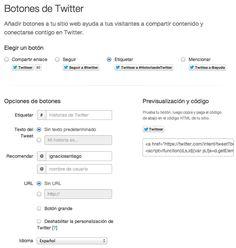 Socializa tu Página Web Botones, plugins y widgets oficiales de Twitter etiquetar