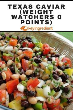ONE-POT MEALS;Texas Caviar (Weight Watchers 0 points). Find out more at:https://www.keyingredient.com/recipes/515011032/texas-caviar-weight-watchers-0-points/