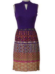 1960's Womens Knit Hippie Dress via www.rustyzipper.com for $38