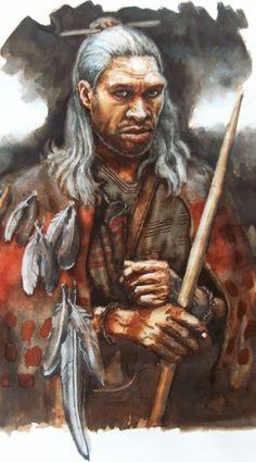 """Los Neandertales del """"Abri du Maras"""": más evidencias de armas de proyectil y variedad de recursos explotados. Ilustración de Libor Balák"""