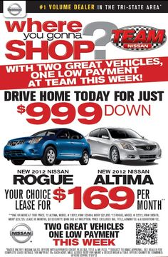 TeamNissanNH.com #teamnissan #ipad #sales #cars #auto #rogue #altima
