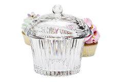 Crystal Cupcake Covered Jar on OneKingsLane.com
