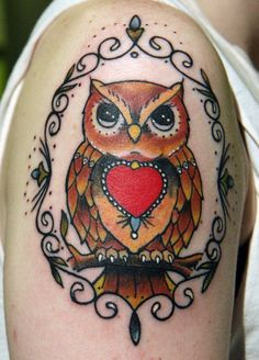 Owl Tattoo - 55 Awesome Owl Tattoos  <3 <3