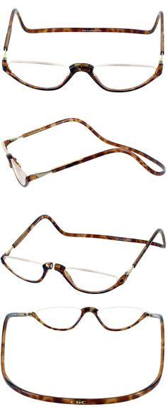 2d32600b936d Reading Glasses  Clic Half Lens Down Nose Magnetic Reading Glasses  Tortoise