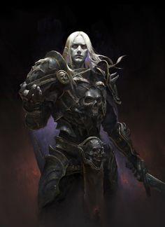 Artstation - the son of dark dark, he xiaosong fantasy rpg, dark fantasy, Fantasy Races, Fantasy Armor, Medieval Fantasy, Fantasy Kunst, Dark Fantasy Art, Dnd Characters, Fantasy Characters, Fantasy Character Design, Character Art