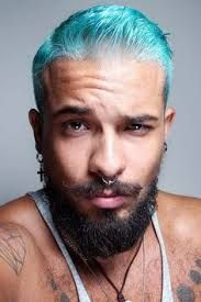 Image result for blue hair on men