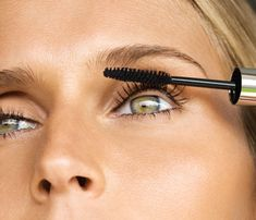 Easy Beauty Tips: swipe mascara in the wrong direction #SelfMagazine