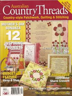 Country Threads - 2009 vol no 7  - 77 pages and included patterns no series quilt