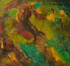 SOUVENIR D'UNE PLANETE VERTE / Dimensions : 110 cm x 100 cm / Techniques de réalisation : Huile / Date de création : 1988 / Support : Toile / Tarif : http://www.art-acquisition.com/fr/content/souvenir-dune-planète-verte