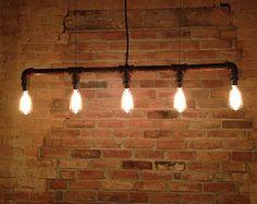 Iluminación - araña - Steampunk muebles industriales - bulbo de Edison