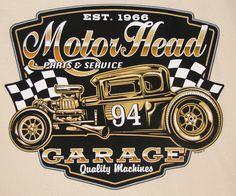 Route 66 Garage Metal Sign Wall Art Decor Mancave Speed Shop Hot Rat Steet Rod