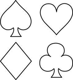 Deck Of Cards Template Unique Playing Card Suits Line Art Free Clip Art Alice In Wonderland Tea Party Birthday, Alice Tea Party, Wonderland Party, Alice In Wonderland Crafts, Vegas Theme, Vegas Party, Casino Night Party, Mad Hatter Party, Mad Hatter Tea