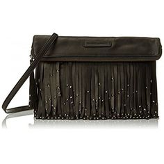 Whether you're out on the town or running errands, the Frye Heidi Stud Fringe Crossbody bag will complete your look. The smooth leather exterior features fringe detailing with stud accents, while the removable, adjustable leather shoulder strap delivers hands-free carry. The roomy interior is large