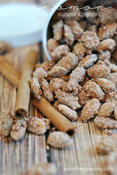 Cinnamon Sugared Almonds ~ sweet, crunchy, and delicious little bits of heavens.... you'd never believe they were so EASY!