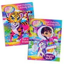 bulk lisa frank giant coloring and activity books at dollartreecom - Dollar Tree Coloring Books