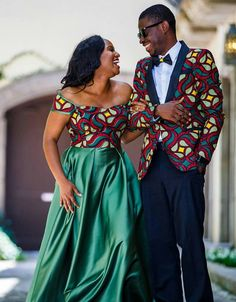 Ankara fabric is very attractive to most women who want to look stylish. Fashionistas are simply crazy about the Ankara fabric. Couples African Outfits, Couple Outfits, African Attire, African Wear, African Dress, African Style, African Print Fashion, African Fashion Dresses, Ankara Fashion