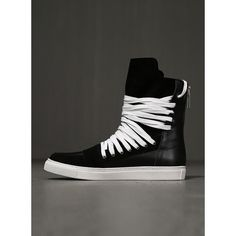 Mummy Lace Up Assche Leather Hightop Sneakers 2