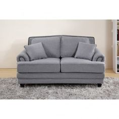 Chic My Room Contemporary Nicole upholstered sofa 2 seater suite settee grey neutral comfortable living room seating.