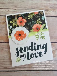 A fun way to duplicate the orange flower in the Whole Lot of Lovely designer paper! Click here to see the other projects in the Tutorial Bundle Design Team July 2017 Blog Hop…#stampyourartout - Stampin' Up!® - Stamp Your Art Out! www.stampyourartout.com