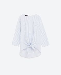 Image 8 of BLOUSE WITH FRONT KNOT from Zara