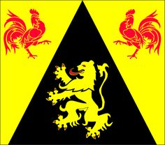 File:Drapeau Province BE Brabant Wallon. Belgium Flag, International Flags, Battle Of Waterloo, Black Lion, Flag Photo, Flags Of The World, Ferrari Logo, Coat Of Arms, Photo Illustration